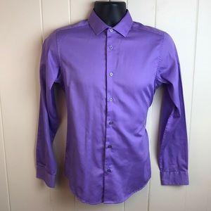 Calvin Klein Mens Long Sleeve Dress Shirt